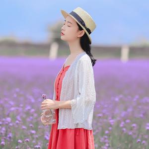 6326#【现货实拍】水溶刺绣开衫外套