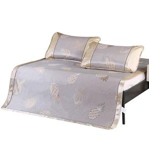 冰丝席凉席三件套 1.5米 1.8m床竹藤凉席双人席子加厚草席折叠