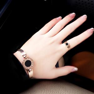 钛钢戒指女简约日韩个性食指环大气潮人学生对戒玫瑰金戒子装饰品