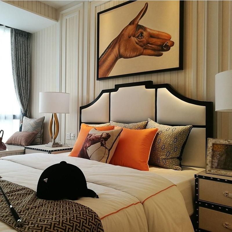 美式床轻奢北欧床双人床2米2.2大床主卧简约现代婚床简欧新中式床