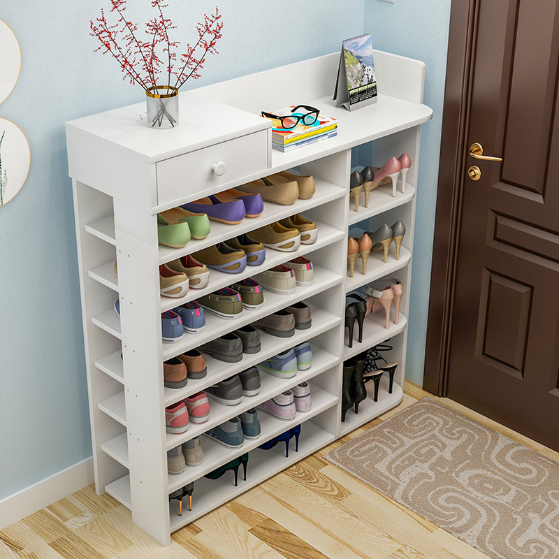 Simple shoe rack simple multi-layer assembly economy home shoe cabinet multi-function special doorway shoes shelf space