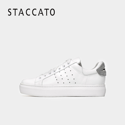 STACCATO-思加图秋季专柜同款简约休闲小白鞋女单鞋9D603CM7