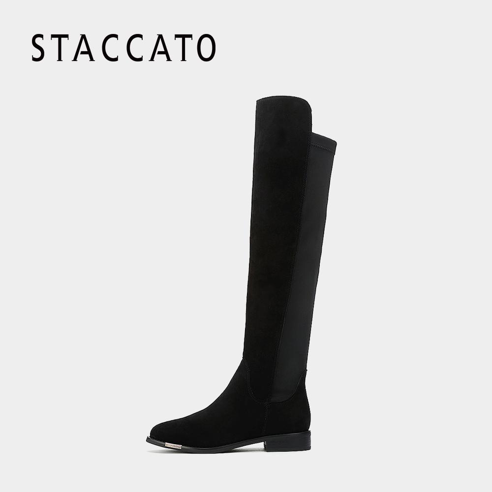 STACCATO-思加图冬季专柜同款绒里及膝女长靴9RA44RC7