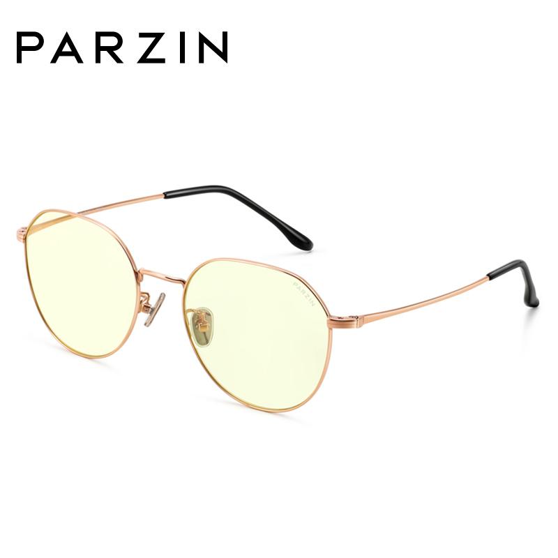 帕森防蓝光眼镜架 女士金属多边形电脑护目眼睛镜 2018新款15740