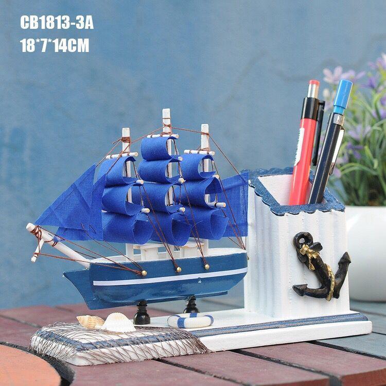 地中海相框办公用品木制纯手工艺品笔筒相框摆设办公室桌面万博网页版登录入口