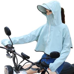 防晒衣女2019夏季新款网红骑车衫紫外线百搭服亲子薄透气短款外套