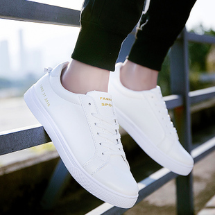 The winter with velvet shoes white shoes white casual shoes men fall trend of Korean students sports shoes shoes tide