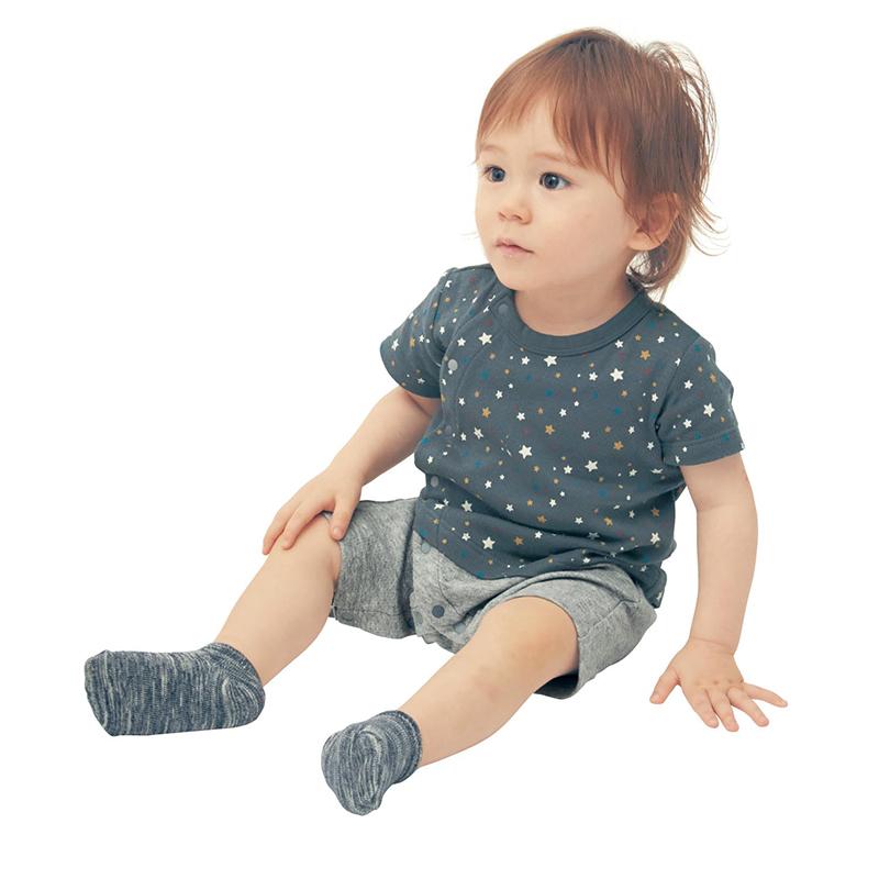 日本千趣会短袖蛙式婴儿连体衣新生儿哈衣宝宝连身包屁衣 D78941