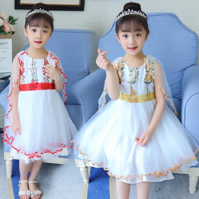 女童夏装连衣裙2018新款4韩版5儿童6春装7公主裙子8小女孩网纱9岁