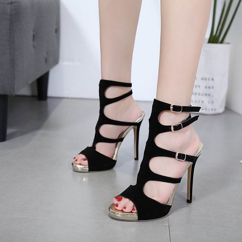 category/Shoes/2018 Italy early spring Belt buckle Catwalk Sandals Thin Hig...