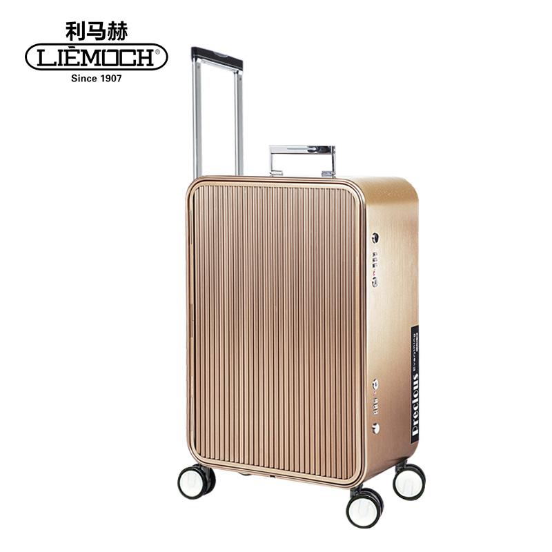利马赫美好生活20寸行李箱拉杆万向轮铝镁合金登机箱男女明星同款