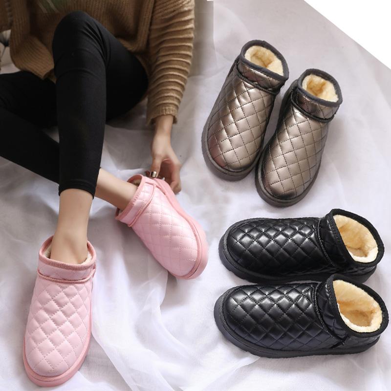 新款雪地靴女棉鞋女冬季保暖加绒短靴韩版百搭女靴子女鞋防水棉靴