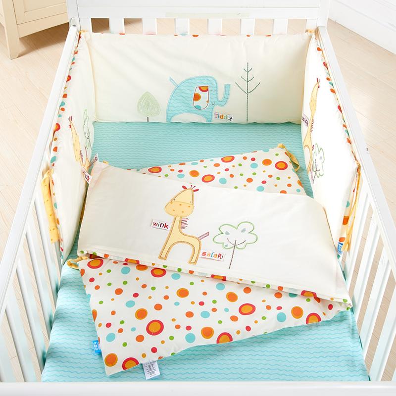 弗贝思 婴儿床床围棉可拆洗婴儿床上用品三件套宝宝防撞儿童床围