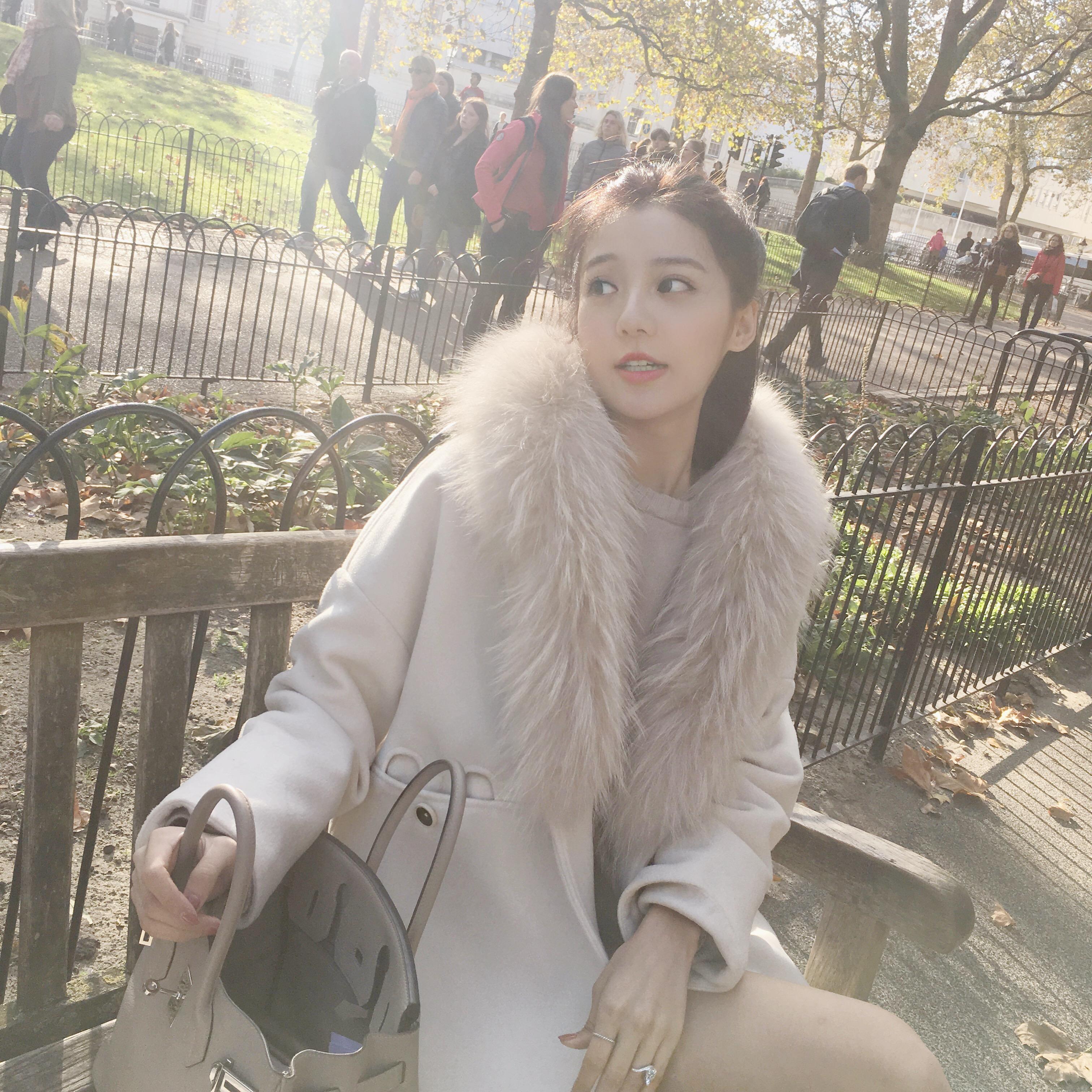 美美的夏夏:气质毛呢大衣女中长款加厚冬季新款大口袋毛领外套女
