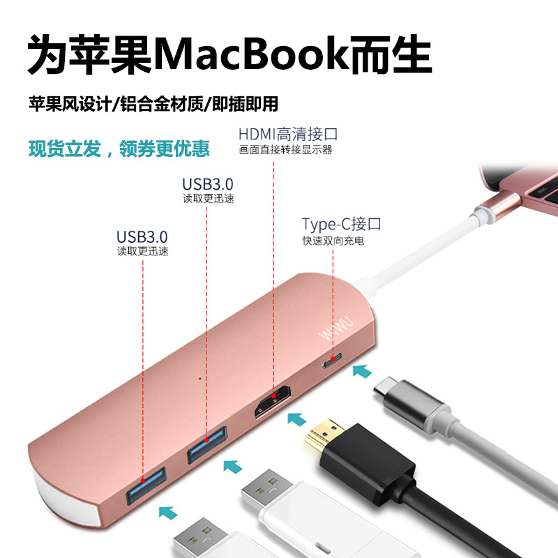 USB-хаб BESTCHOI T Mac Type-c Macbook Pro Usb-c Usb 12