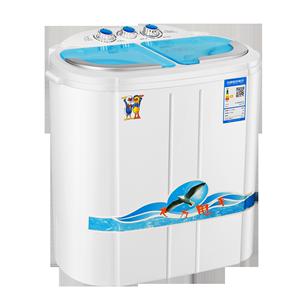 小鸭牌XPB25-2188S迷你洗衣机宿舍双桶带甩干婴儿童宝宝家用小型