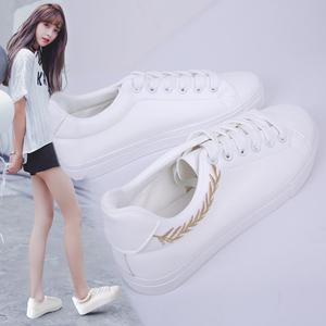 牛皮百搭小白鞋2018春季新款chic韩版风休闲板鞋ins超火鞋子女