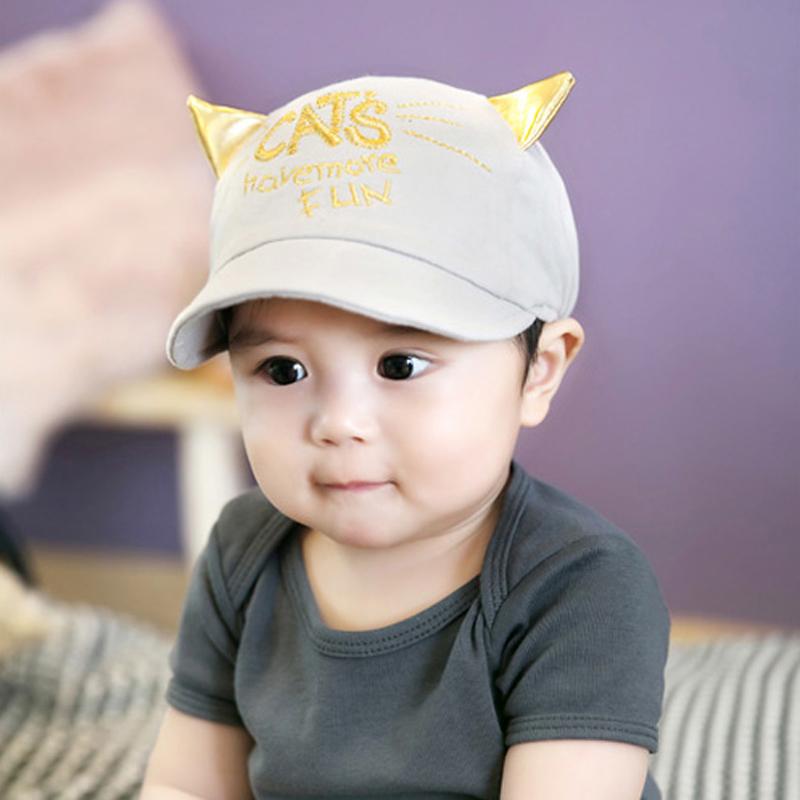 熊朵婴儿鸭舌帽春款6-12月宝宝帽子纯棉男女童韩国棒球遮阳帽包邮产品展示图2