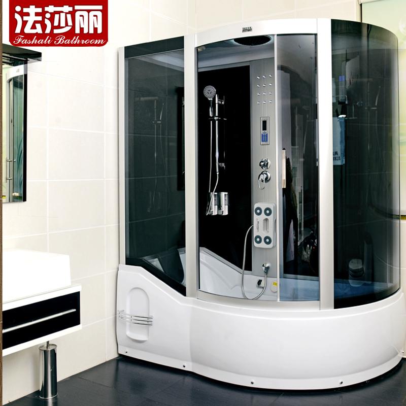法莎丽高档整体淋浴房 带浴缸两用整体淋浴房 蒸汽桑拿房不包邮