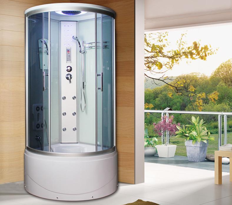 法莎丽弧形整体淋浴房 淋浴房 沐浴房 智能电脑淋浴房 包邮