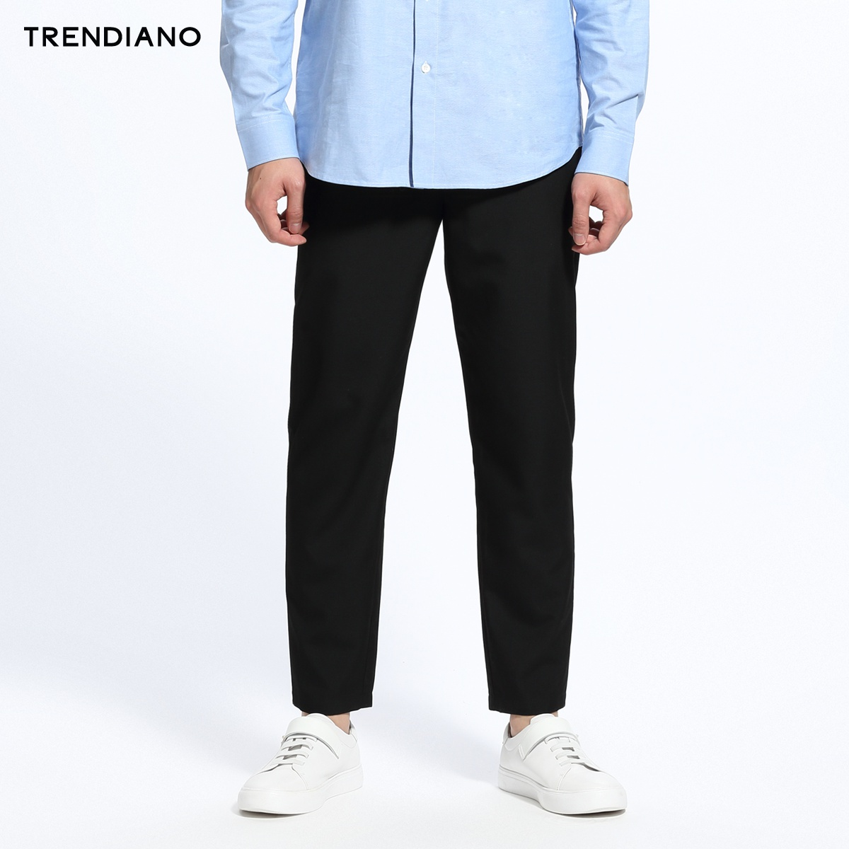 TRENDIANO纯色刺绣九分裤休闲裤3GC206766P