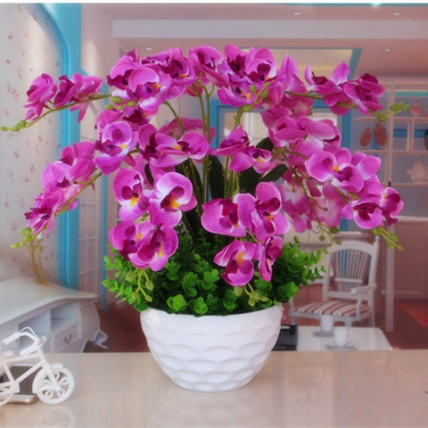 Simulation potted multi-selection new artificial flower plastic ...
