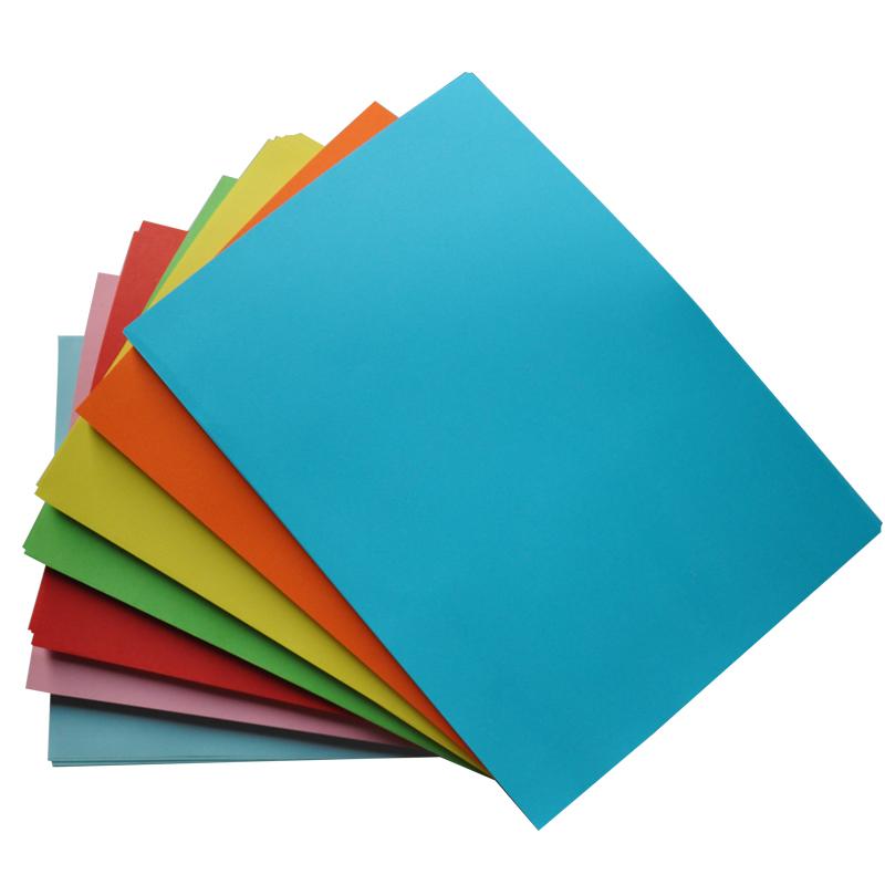 彩色复印纸手工折纸A4打印用儿童手工剪纸彩色纸80克彩纸70g黄蓝绿粉色500张大红浅蓝浅绿a4浅粉色红纸白色