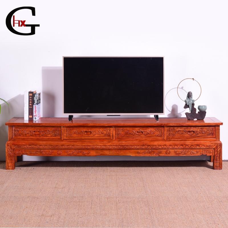 红木家具刺猬紫檀电视柜明清古典客厅中式花梨木落地电视机柜矮柜