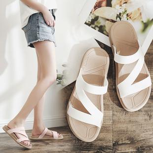 拖鞋女外穿时尚百搭夏海边沙滩女士外出2019新款网红懒人鞋凉拖鞋