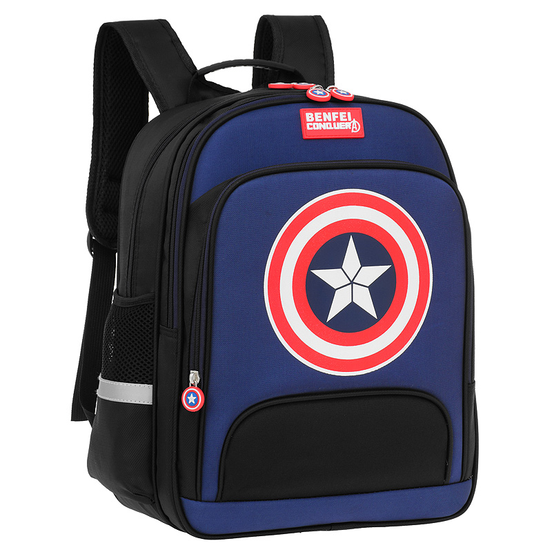 Schoolbag primary school male and female backpack 1-3-4-6 grade boy 6-12 years old light weight loss wear