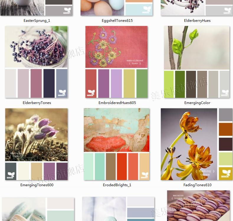 f35室内设计配色方案软装色彩颜色卡搭配网页设计师资料搭配色板