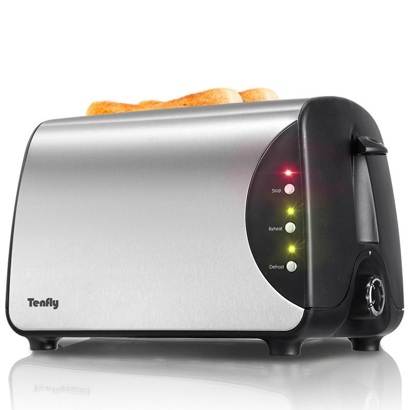 烤面包机家用2片多士炉Tenfly BH8863C 迷你全自动吐司加热机早餐
