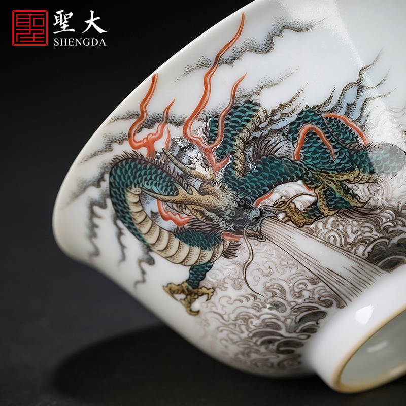 Santa teacups hand - made ceramic kungfu pastel dragon by cloud masters cup sample tea cup all hand of jingdezhen tea service