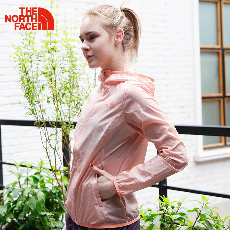 TheNorthFace北面新款夏季轻薄防风透气皮肤衣防晒服户外防晒衣女