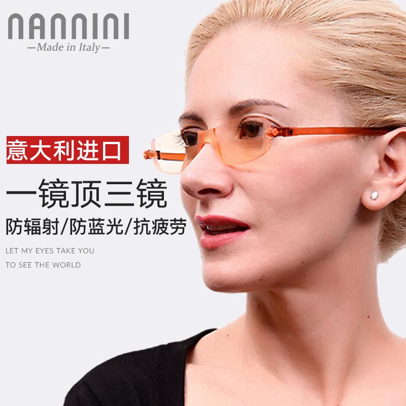 进口高清防蓝光防辐射老花镜男女轻薄时尚电脑防疲劳护目老光眼镜