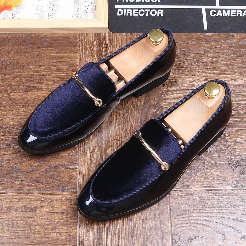 Men Fashion Leather Shoes Man Business Formal Shoes 013610
