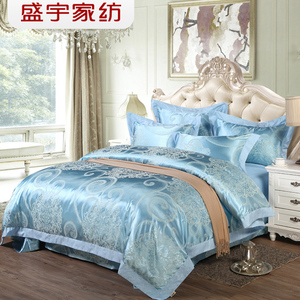 盛宇家纺欧式大提花丝滑四件套婚庆床品4件套床单被套结婚四件套