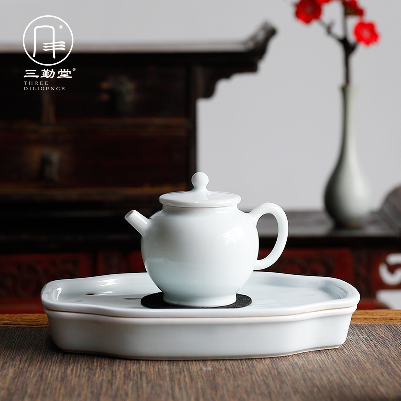 The three frequently little teapot jingdezhen ceramic film celadon kung fu tea set big household mini mercifully S21033 The teapot