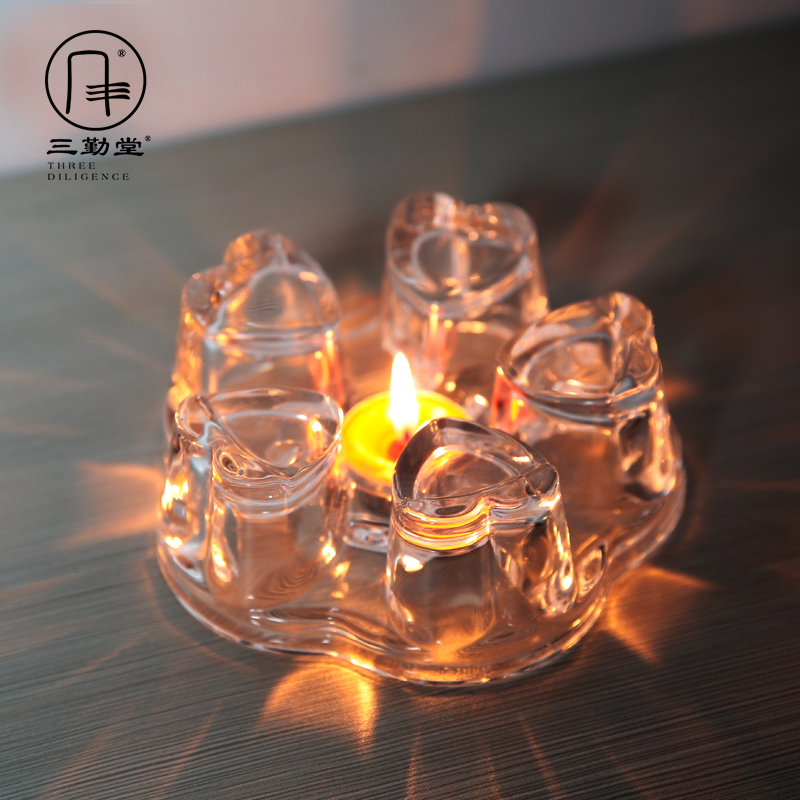 The three frequently kung fu tea set crystal glass holding furnace heating base based warm tea, The tea stove S04041 wen
