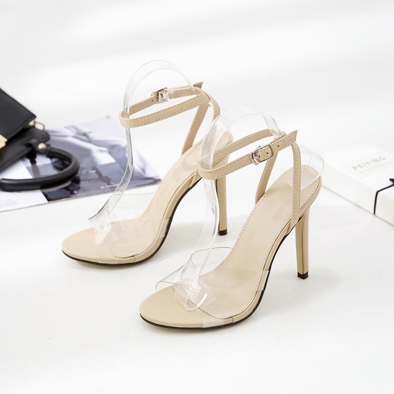 category/Shoes/Hot Sale PVC Women Platform Sandals 11.5CM Super High Heels ...