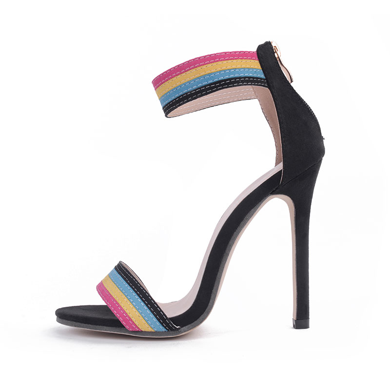 Rainbow tie high heels's main photo