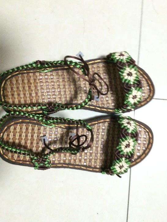 纯手工编织凉鞋