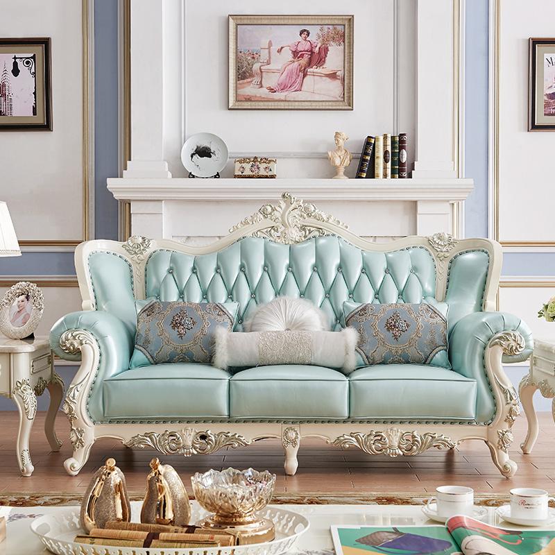 客厅成套家具套装组合全屋欧式沙发茶几组合卧室真皮沙发简欧