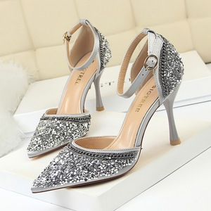 Han edition fashion glasses with high 313-7 with hollow light mouth pointed diamond sequins and women sandals hollow out