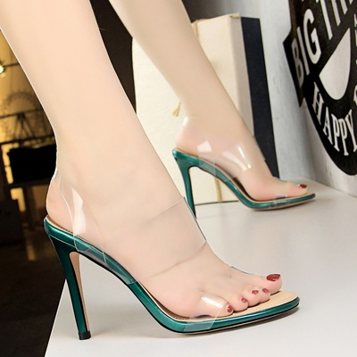 5262-6 han edition sexy nightclubs with summer shoes fashion ultra-high transparent word dewy toe sandals, high heels