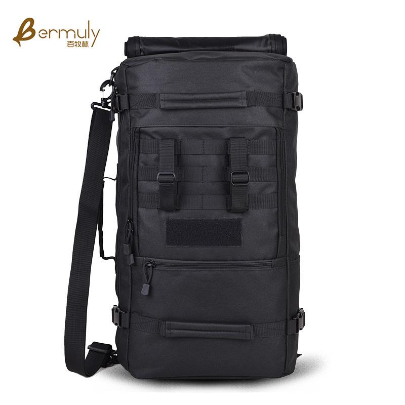 户外登山野营包男双肩包旅行背包55L大容量多功能40L迷彩专业背囊