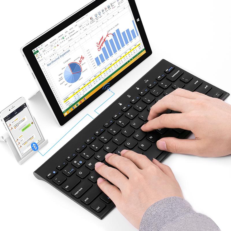 BOW航世 无线键盘鼠标苹果mac笔记本台式电脑充电双模蓝牙鼠键套装静音