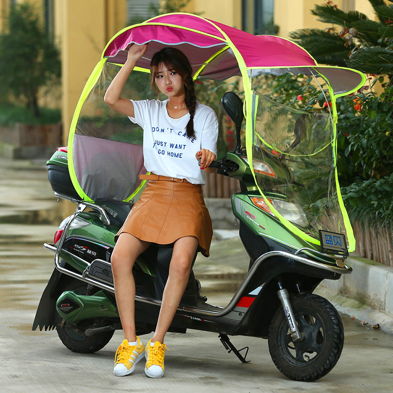 Electric car umbrellas canopy rain waterproof sunscreen new full closed motorcycle windshield rain transparent folding umbrella  sc 1 st  English TaoBao Purchase Agent : motorcycle canopy - memphite.com