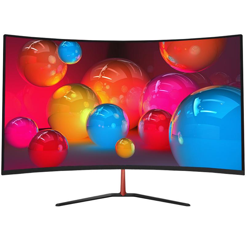 松人32英寸液晶高清大宽屏曲面显示器 游戏电竞超薄电脑台式屏幕