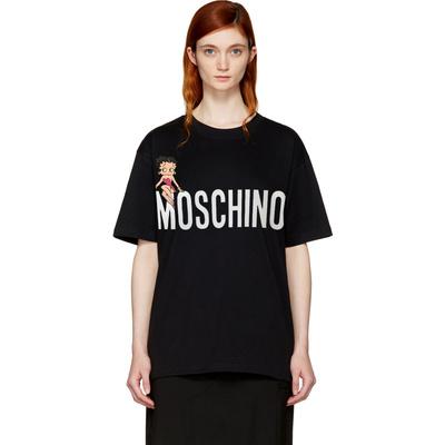 Moschino-莫斯奇诺2018新款贝蒂卡通字母短袖T恤女EA0704 0540